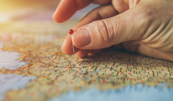 Top Travel Destinations Pin in Map